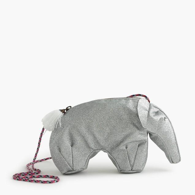 Girls' glitter elephant bag