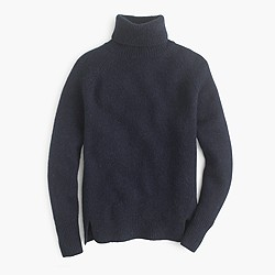 Turtleneck sweater with notched hem