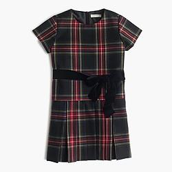 Girls' Stewart plaid dress
