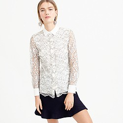 Edged-lace blouse