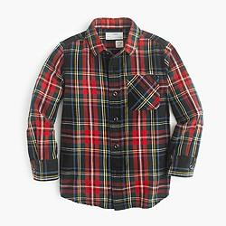 Kids' flannel shirt in Stewart plaid