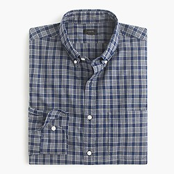 Slim Secret Wash shirt in Byrne plaid