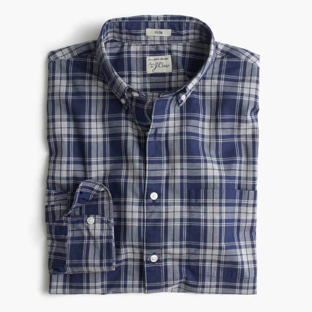 Tall Secret Wash shirt in heather plaid