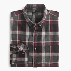 Slim Secret Wash shirt in Burke plaid