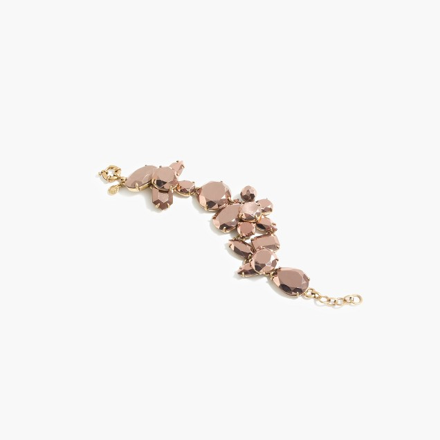 Crystal cluster bracelet