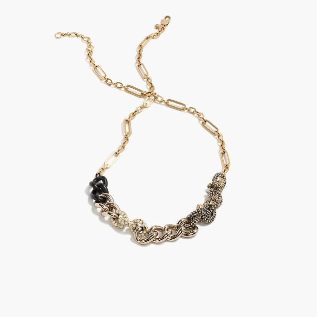 Chain mélange necklace