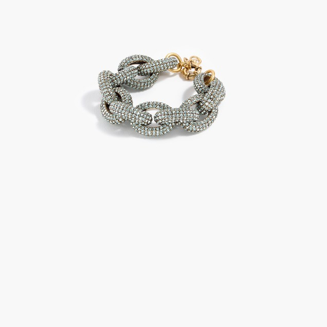 Sparkle chunky link bracelet