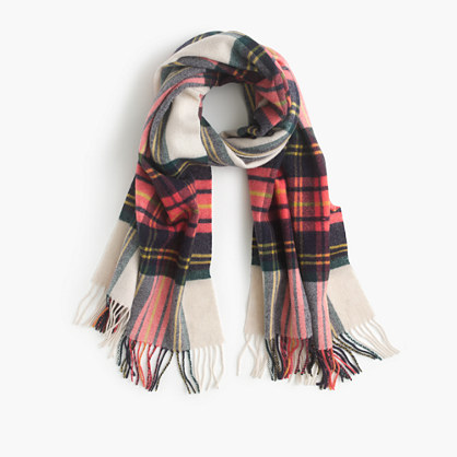Winter plaid scarf