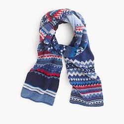 Eribé® hinterland Fair Isle scarf