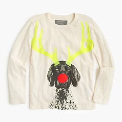 Boys' glow-in-the-dark holiday dog T-shirt