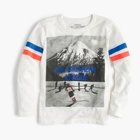 Boys' long-sleeve ice hockey T-shirt