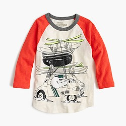 Boys' driving yeti three-quarter-sleeve T-shirt