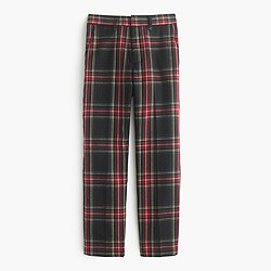 Boys' Ludlow slim suit pant in Stewart plaid flannel
