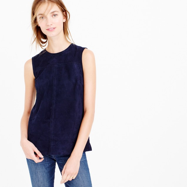 collection suede shell top j crew