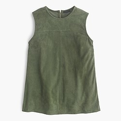 Collection suede shell top