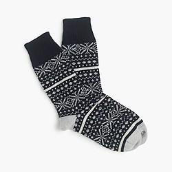 Corgi™ cashmere Fair Isle socks