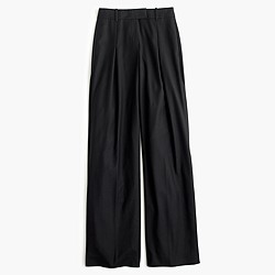 Wide-leg pant in wool