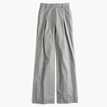 Petite wide-leg pant in wool
