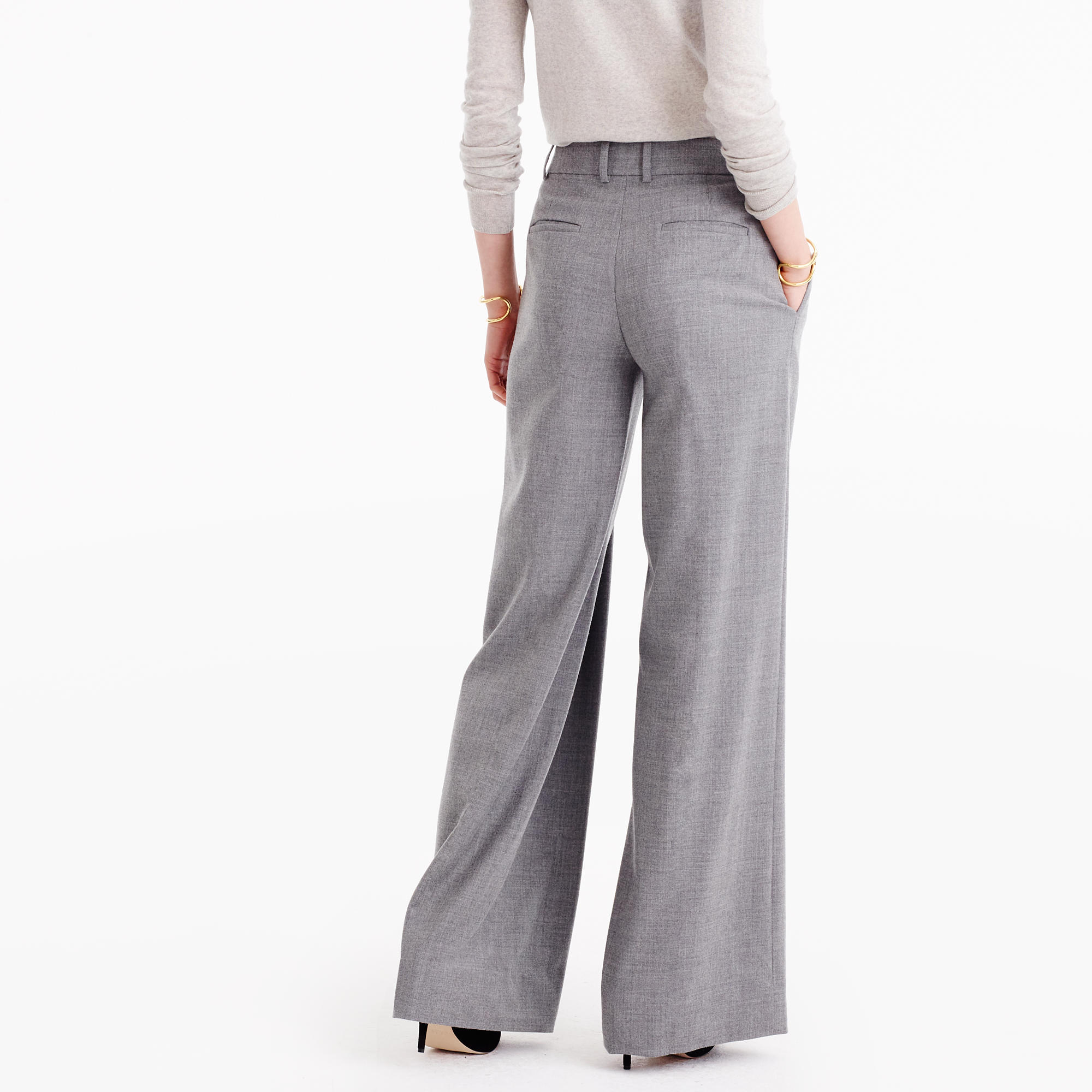 Wide-Leg Pant In Wool : Women's Pants | J.Crew