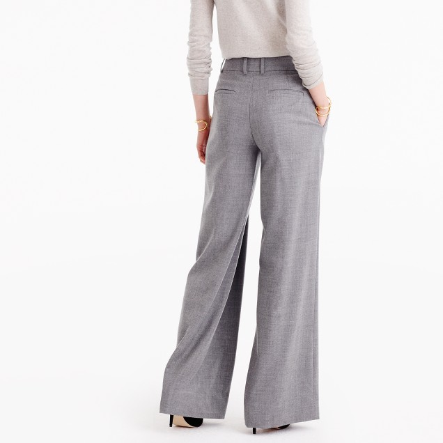 Petite Wide-Leg Pant In Wool : Women's Pants | J.Crew