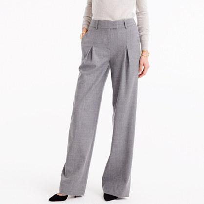 Wide-leg pant in wool