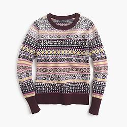 Petite sequin Fair Isle sweater