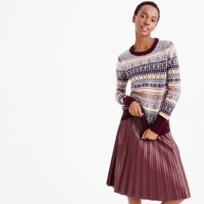 Sequin Fair Isle sweater : | J.Crew