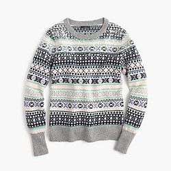 Sequin Fair Isle sweater