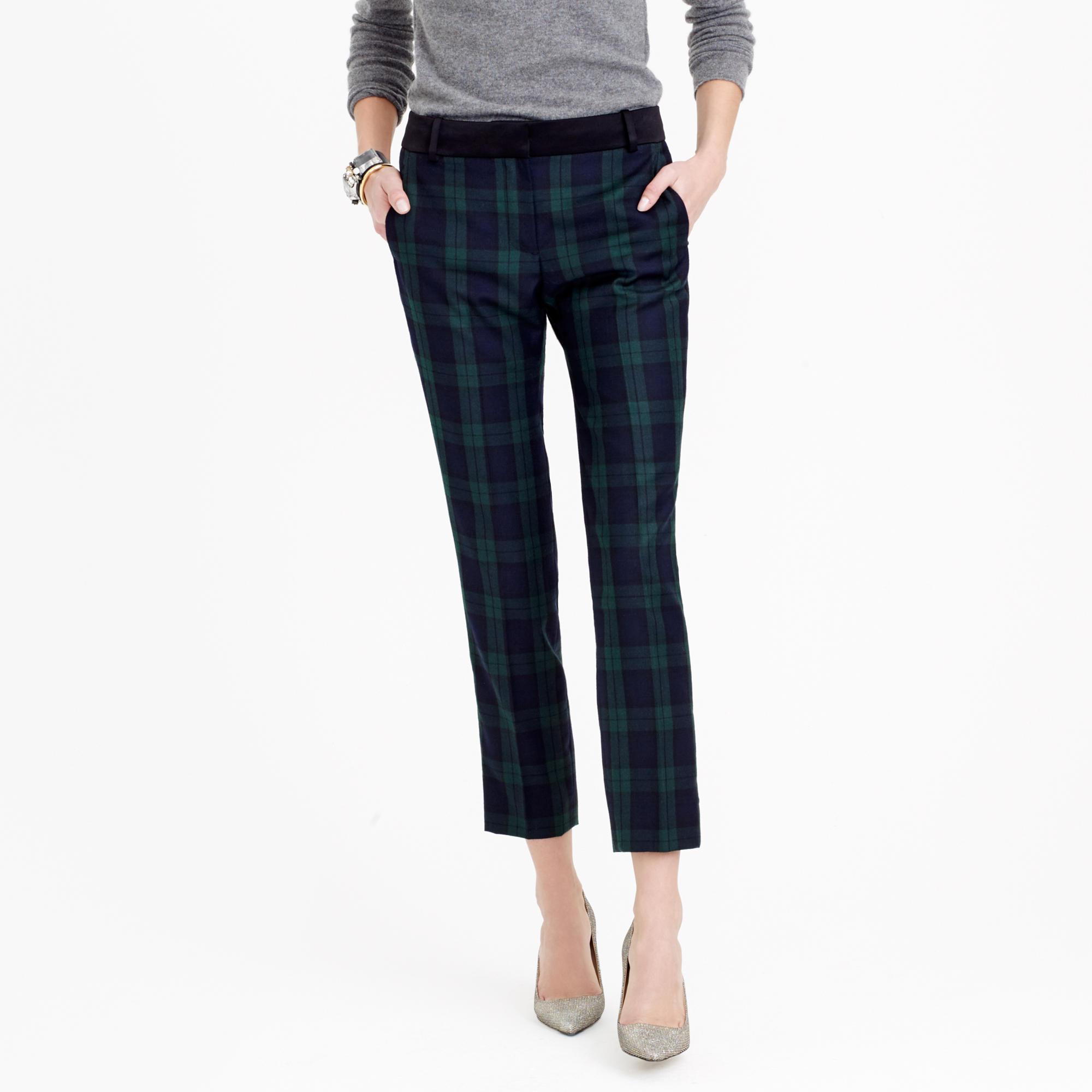 black watch plaid pants women