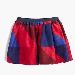 Girls' holiday tartan skirt