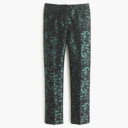 Petite patio pant in evergreen jacquard