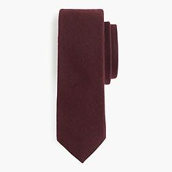 English cotton-wool tie in solid melange