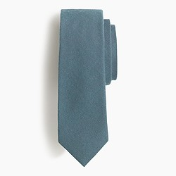 English cotton-wool tie in solid melange