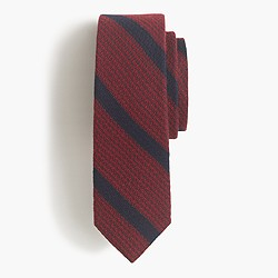 Textured English wool-silk tie in stripe