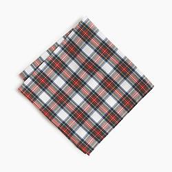 Cotton pocket square in classic tartan