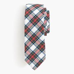 Cotton tie in classic tartan