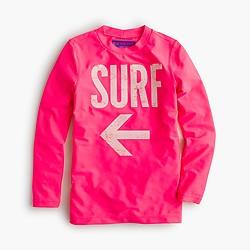 Girls' surf swim rash guard