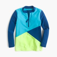 Girls' colorblock rash guard