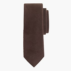 English wool-silk solid tie