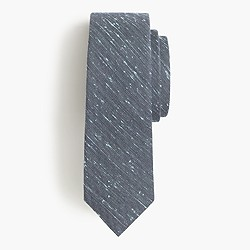 English wool-silk tie in speckled paint