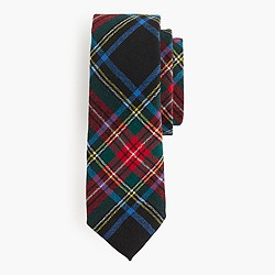 English wool tie in Stewart plaid