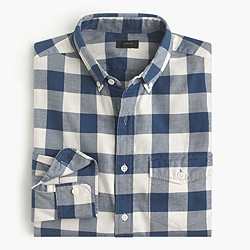 Tall brushed twill shirt in Batavia gingham