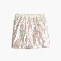 Girls' iridescent sequin skirt