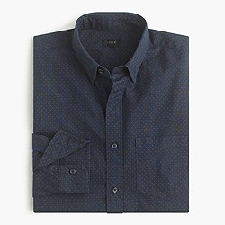 Tall secret wash shirt in twill dot