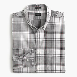 Slim Secret Wash shirt in heather plaid