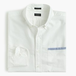 Slim vintage oxford shirt with tipped pocket