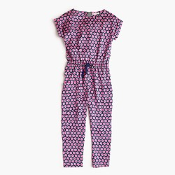 Girls' drapey jumpsuit in floating stars
