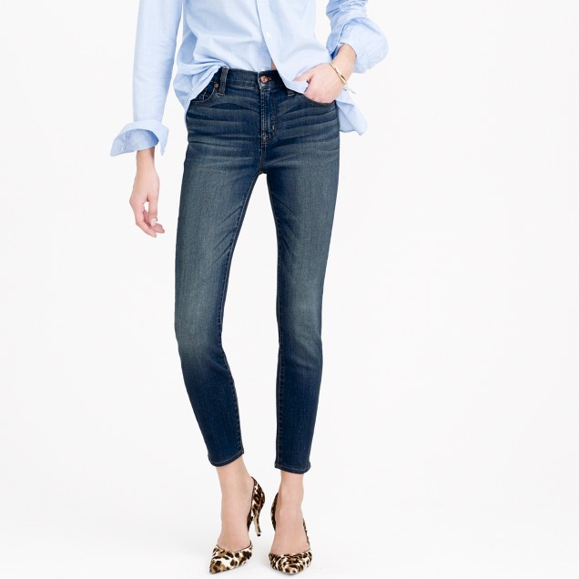 Lookout high-rise crop jean in Mariner wash