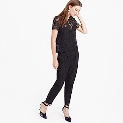 Collection jumpsuit in Leavers lace