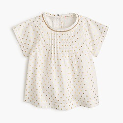 Girls' gold-dot shirt